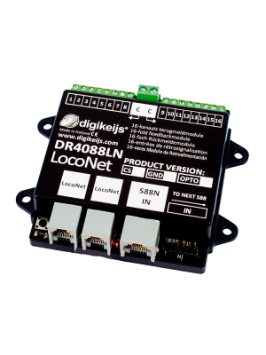 DR4088LN-OPTO 16-channel S88N feedbackmodule with LocoNet