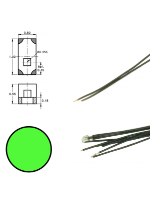 DR60090 Green Led on Wire (5 pieces)