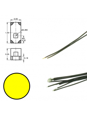DR60091 Yellow Led on Wire (5 pieces)