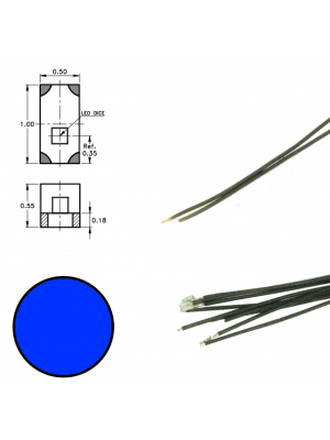 DR60094 Blue Led on Wire (5 pieces)