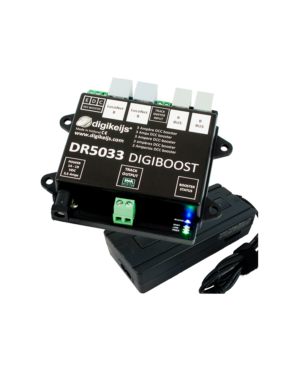 DR5033-ADJ DCC Booster 3 Amps